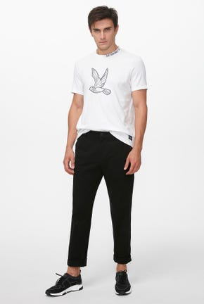 BIRD LOGO RIBBED TEE