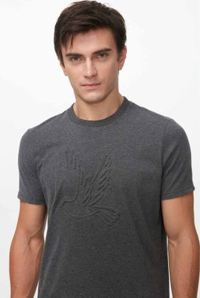 MEN'S EMBOSSED BIRD LOGO TEE