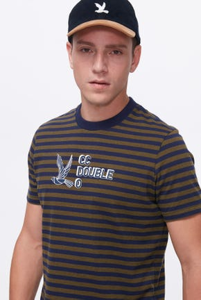 SHORT-SLEEVED LOGO STRIPED TEE