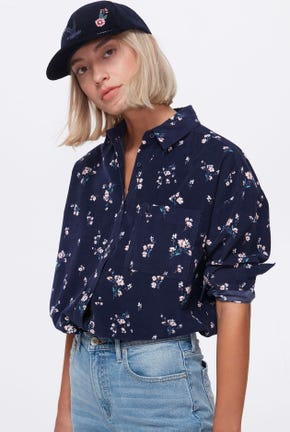 LONG-SLEEVED FLORAL PRINTED SHIRT