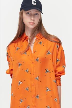 HALLOWEEN PRINTED SHIRT DRESS