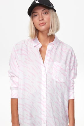 LONG-SLEEVED BRUSH PRINTED SHIRT