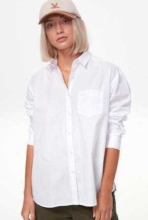 LONG-SLEEVED SHIRT WITH DRAPE DETAIL