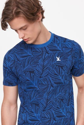 SHORT-SLEEVED LEAVES GRAPHIC TEE