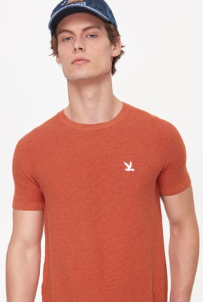 SHORT-SLEEVED KNITTED TEE