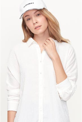 LONG-SLEEVED PLEATED SHIRT