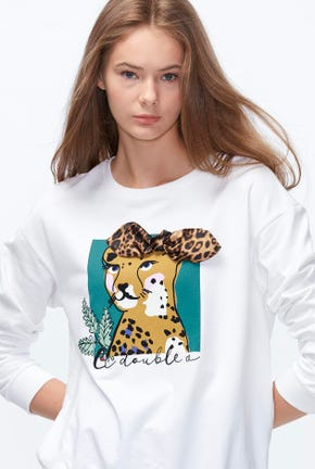 ANIMAL GRAPHIC PULLOVER