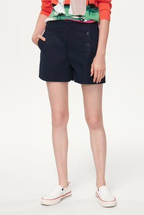 A-LINE SHORTS WITH BUTTON DETAIL
