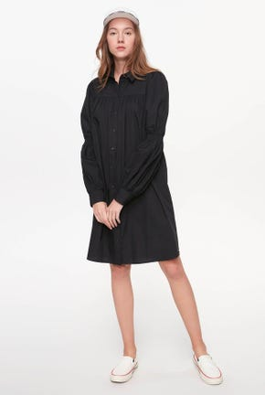 VIRAGO-SLEEVED POPLIN SHIRT DRESS
