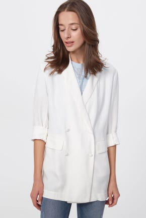 DOUBLE-BREASTED LIGHT BLAZER