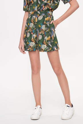 TROPICAL SUMMER PRINTED SHORTS