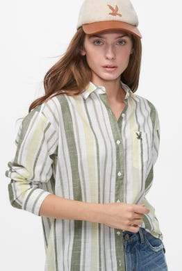 TIE-HEM STRIPED SHIRT