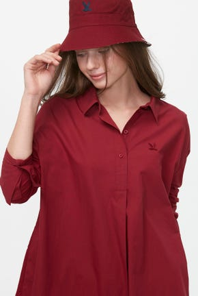 LONG-SLEEVED QUARTER PLACKET SHIRT