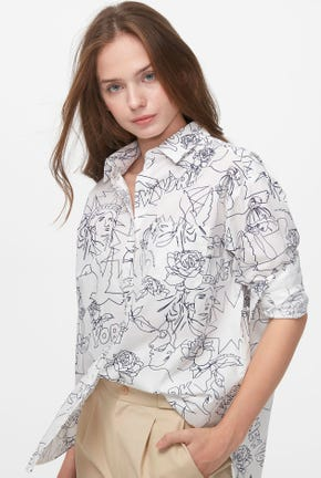 LINE DRAWING PRINTED SHIRT