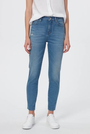 COOLMAX LIGHT WASH CROPPED SKINNY JEANS
