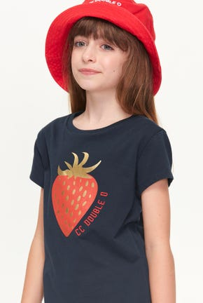 MINI STRAWBERRY GRAPHIC TEE