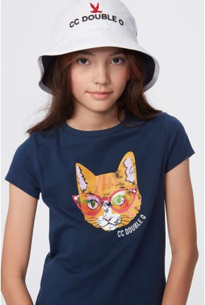 COOL CAT GRAPHIC TEE