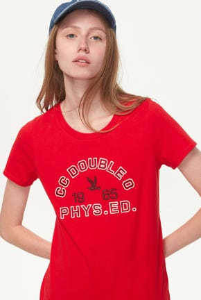 RED LOGO GRAPHIC TEE