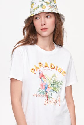PARADISE MACAW GRAPHIC TEE
