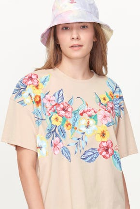 SUMMER FLOWER GRAPHIC TEE