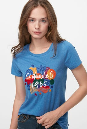 COLOR MIX GRAPHIC TEE