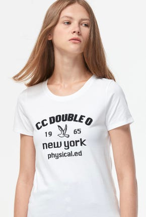 CC DOUBLE O NY LOGO GRAPHIC TEE