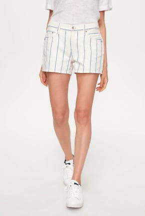 PENCIL STRIPED SHORTS